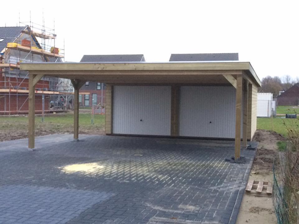 Garage platdak + carport Stavoren