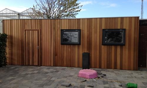 tuinhuis-platdak-red-cedar-meddo afbeelding