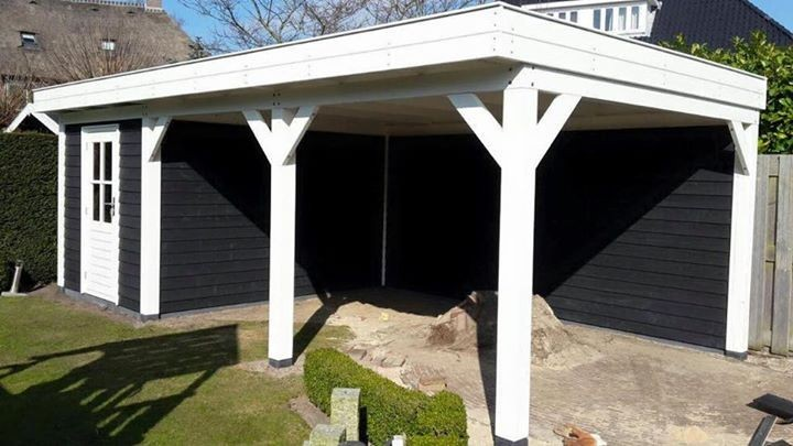 tuinhuis-platdak---carport-oegstgeest afbeelding