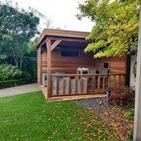 tuinhuis-platdak---overkapping-red-cedar-drempt afbeelding