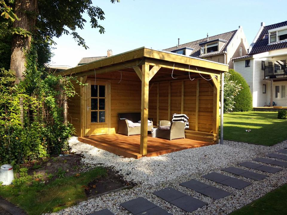 Tuinhuis platdak + overkapping Zuid-Holland