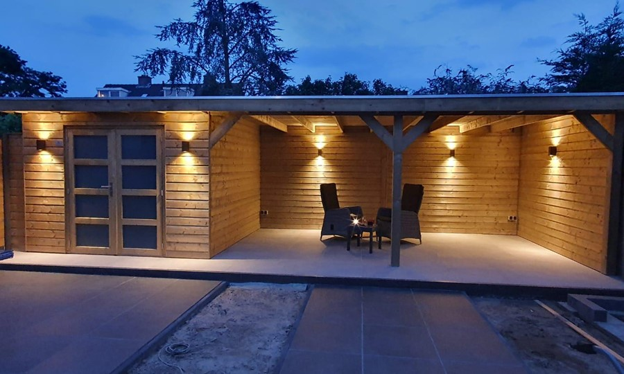 tuinhuis-platdak---veranda-mook afbeelding