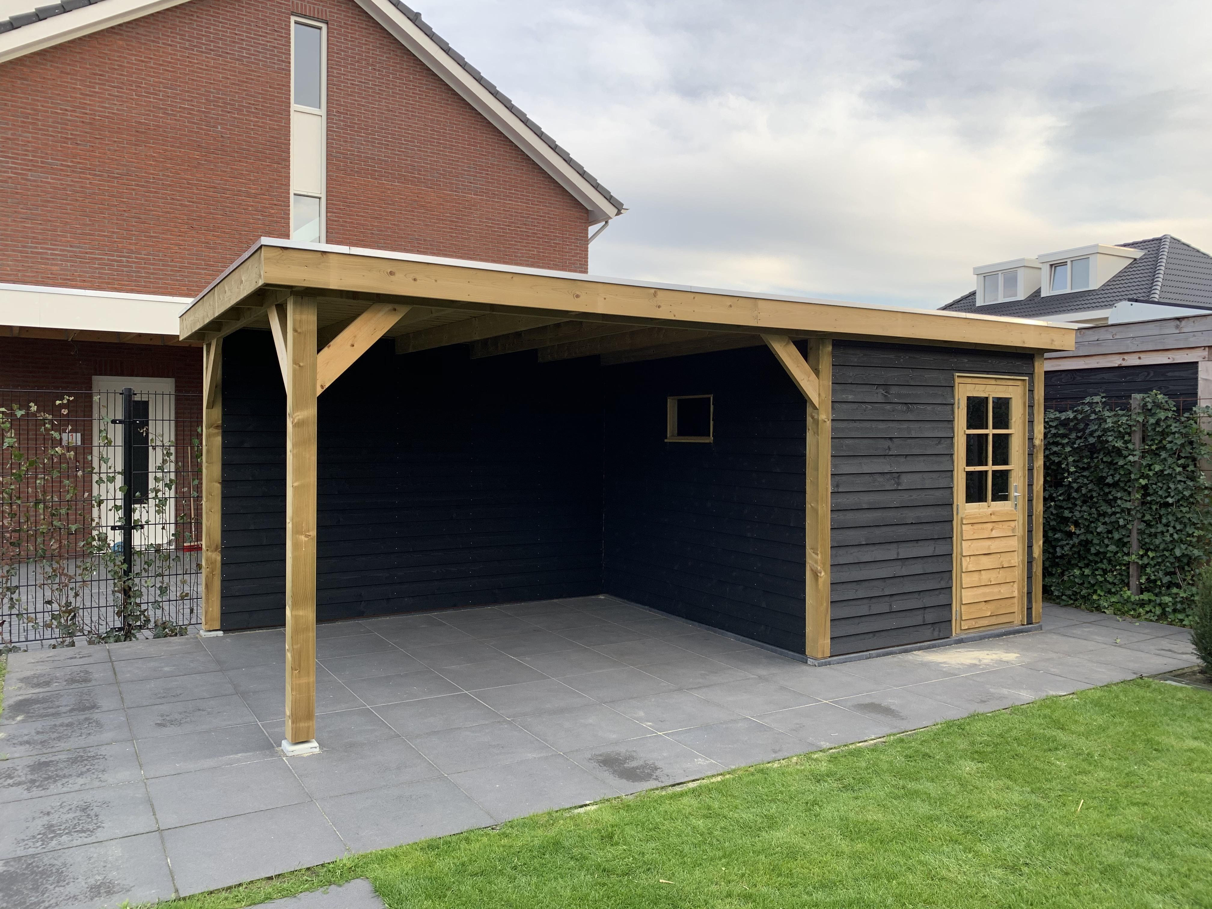 Tuinhuis platdak + veranda Veldwijk
