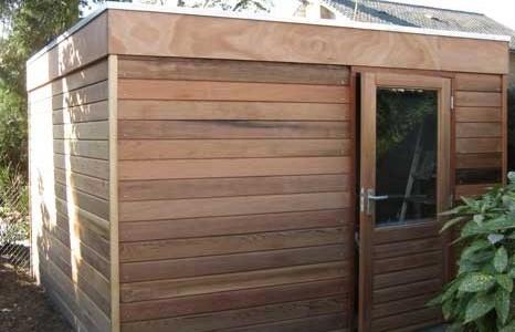 tuinhuis-platdak-modern-red-cedar-silvolde afbeelding
