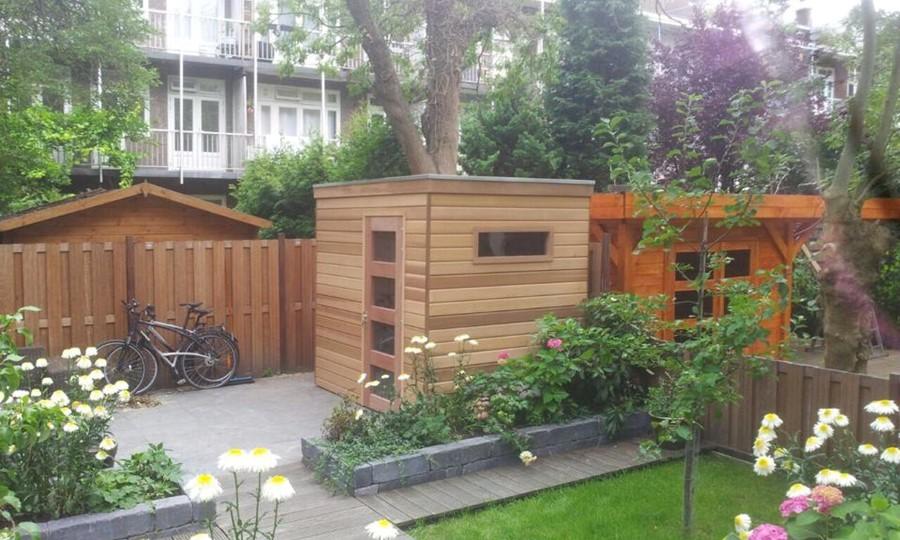 tuinhuis-platdak-red-cedar-kubus-haarlem afbeelding