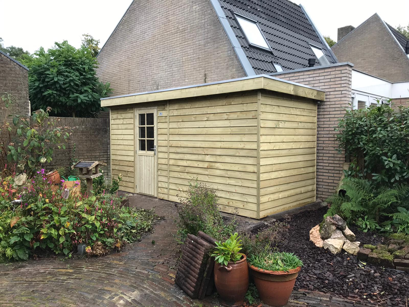 Tuinhuis platdak Vaassen