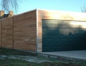 moderne-garage-plat-dak-landsmeer afbeelding
