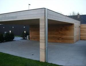 moderne-berging---carport-red-cedar-ijmuiden afbeelding