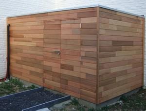 moderne-houten-berging-red-cedar-lochem afbeelding