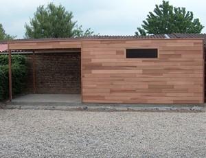 tuinhuis---overkapping-platdak-red-cedar-appelscha afbeelding