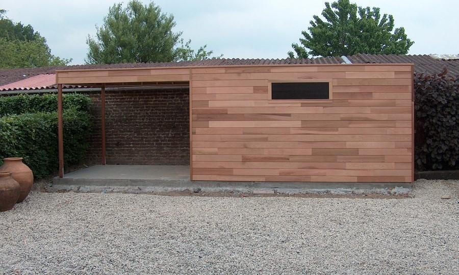 tuinhuis-platdak---overkapping-red-cedar-appelscha afbeelding