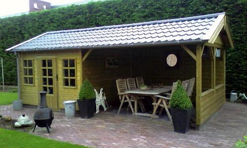 tuinhuis-zadeldak---zij-overkapping-hoorn afbeelding