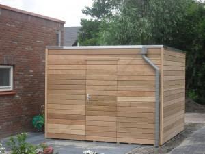 tuinhuis-platdak-modern-red-cedar-kubus-bergh afbeelding