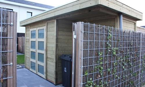 tuinhuis-platdak-modern---inpandige-luifel-friesland afbeelding