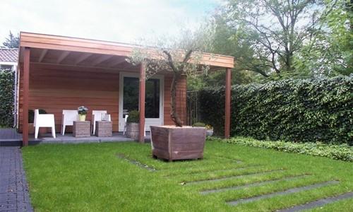 tuinhuis-platdak---overkapping-red-cedar-westervoort afbeelding