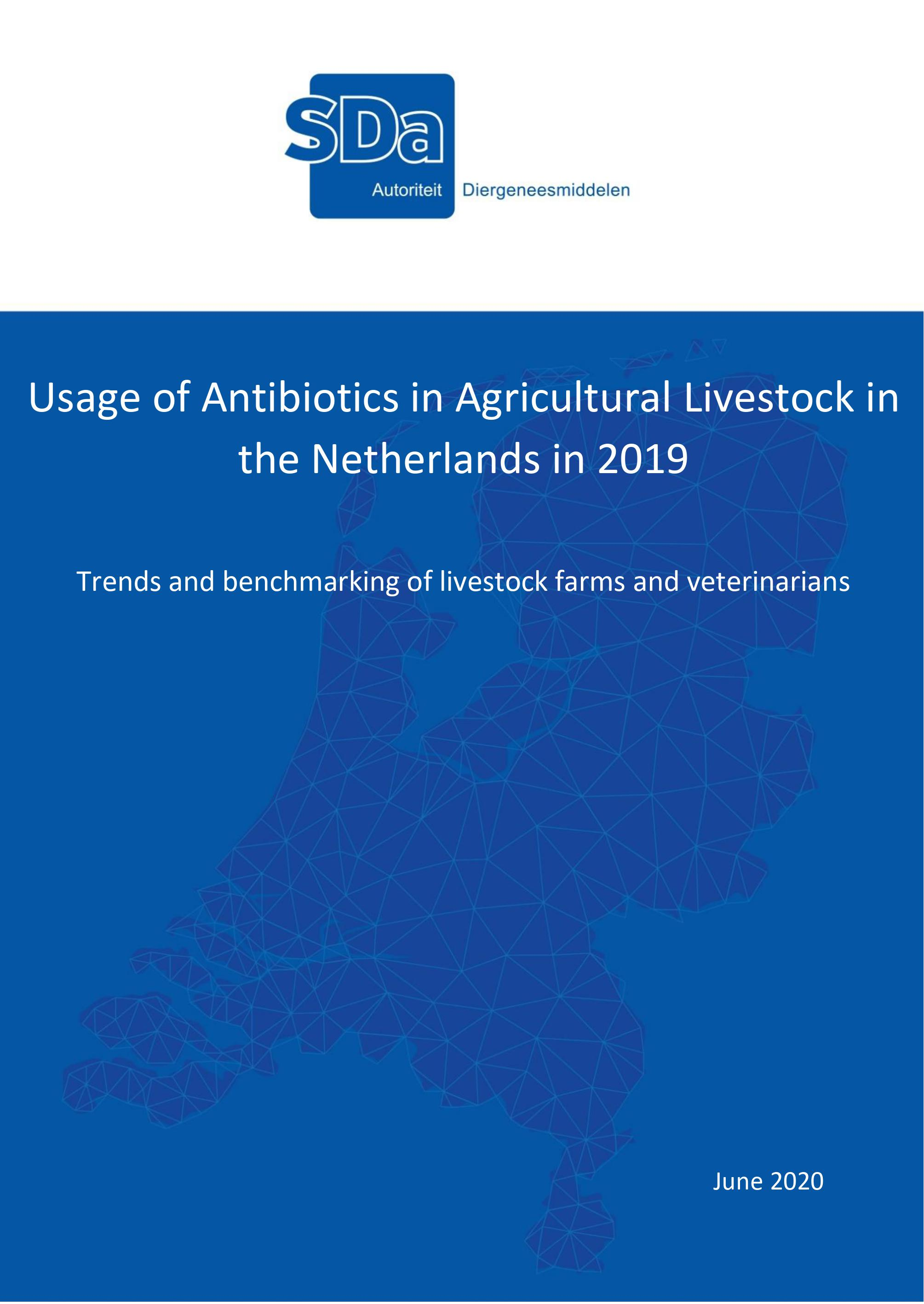 SDa-report 'Usage of antibiotics in agricultural livestock in the Netherlands in 2019'