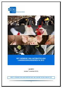 SDa-rapport 'antibioticumgebruik in 2012'