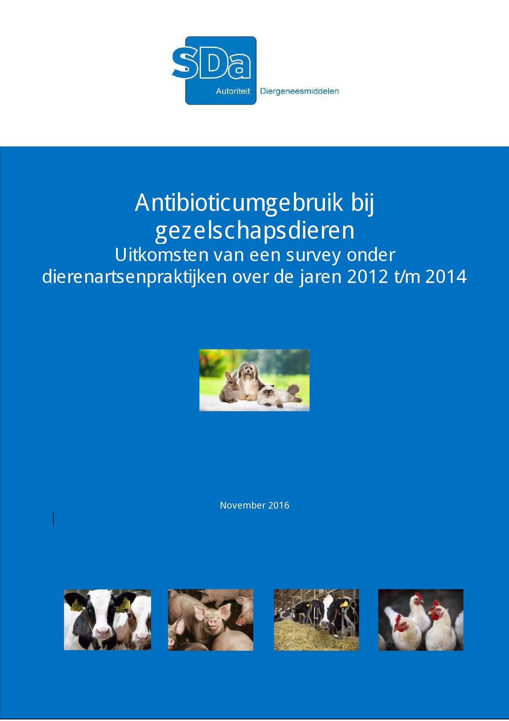 SDa-rapport 'antibioticumgebruik bij gezelschapsdieren'