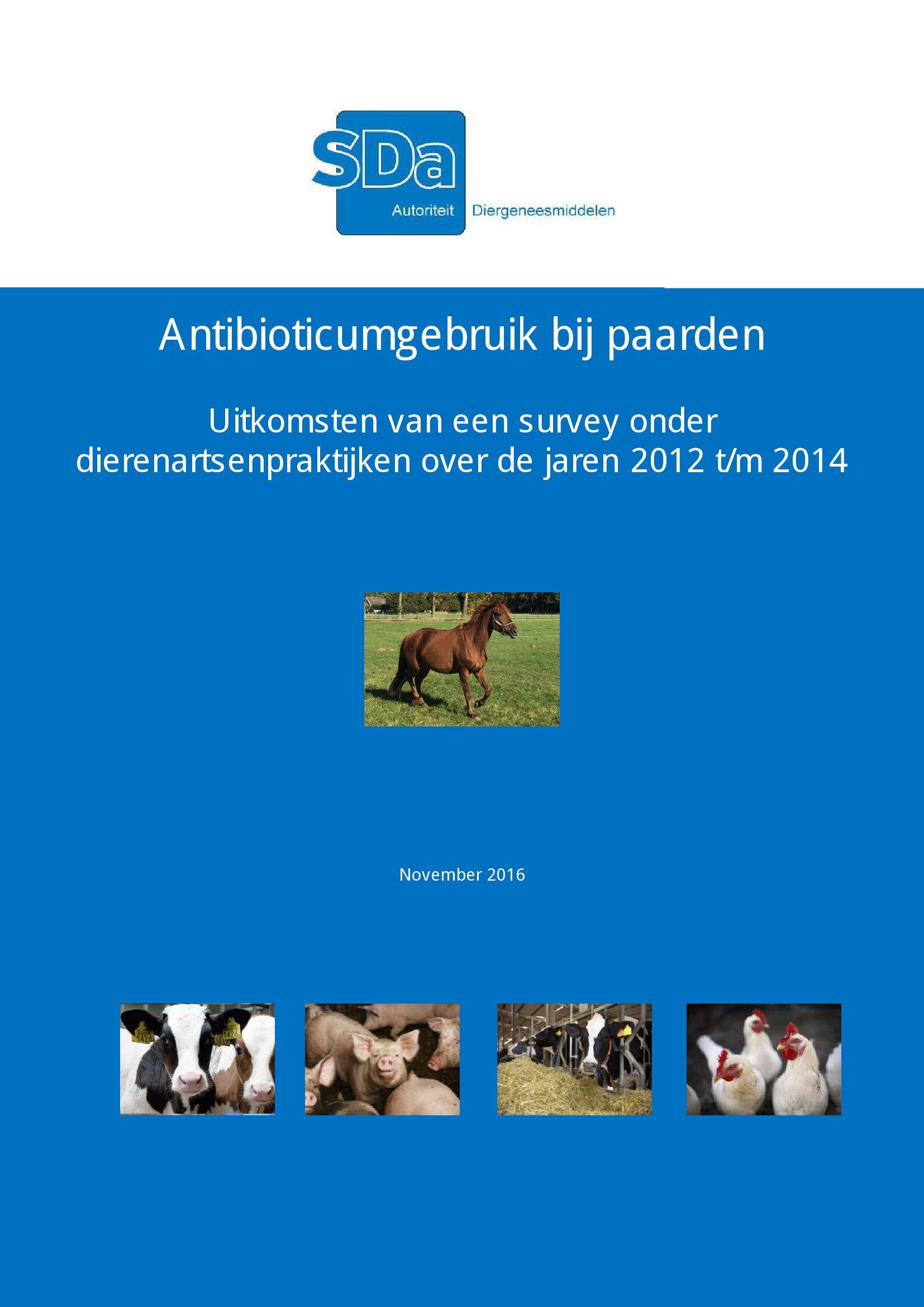 SDa-rapport 'antibioticumgebruik bij paarden'