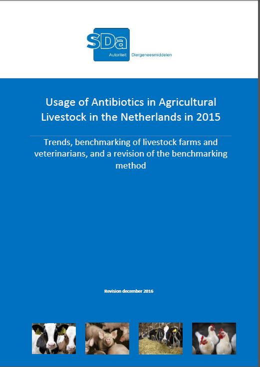 Usage of antibiotics in agricultural livestock in the Netherlands in 2015. Trends benchmarking of livestock farms and veterinarians, and a revision of the benchmarking method