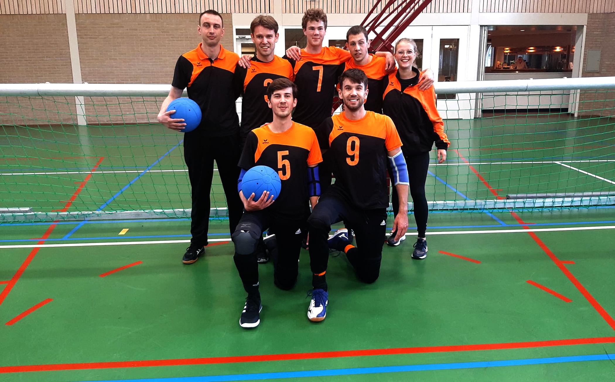Opstelling Nederlands Goalball Team Mannen