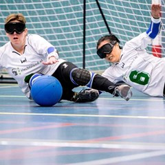 Goalball bij Gehandicaptensport Nederland