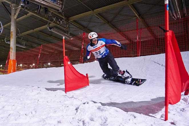 Aangepast snowboarden