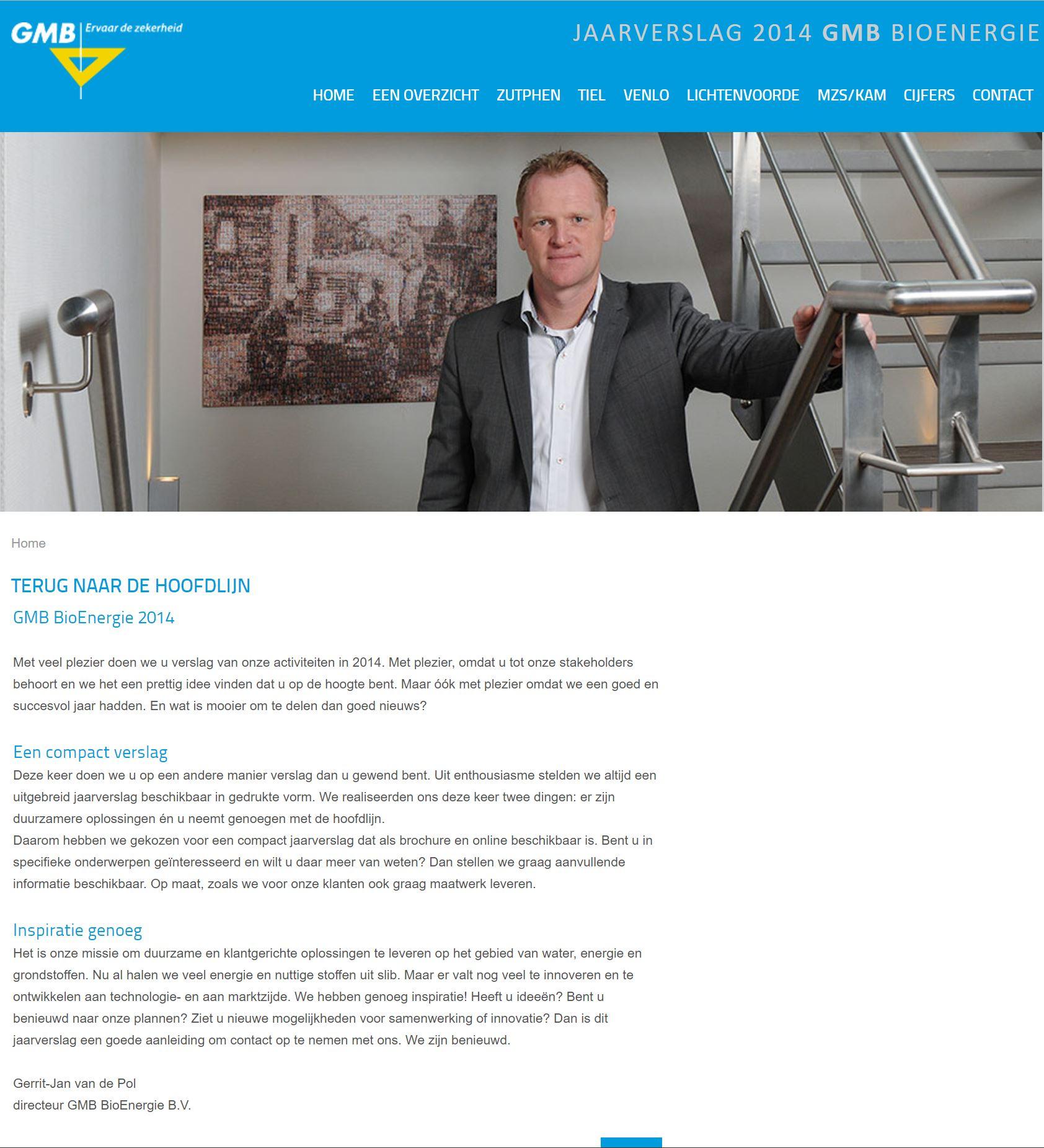 Jaarverslag BioEnergie 2014