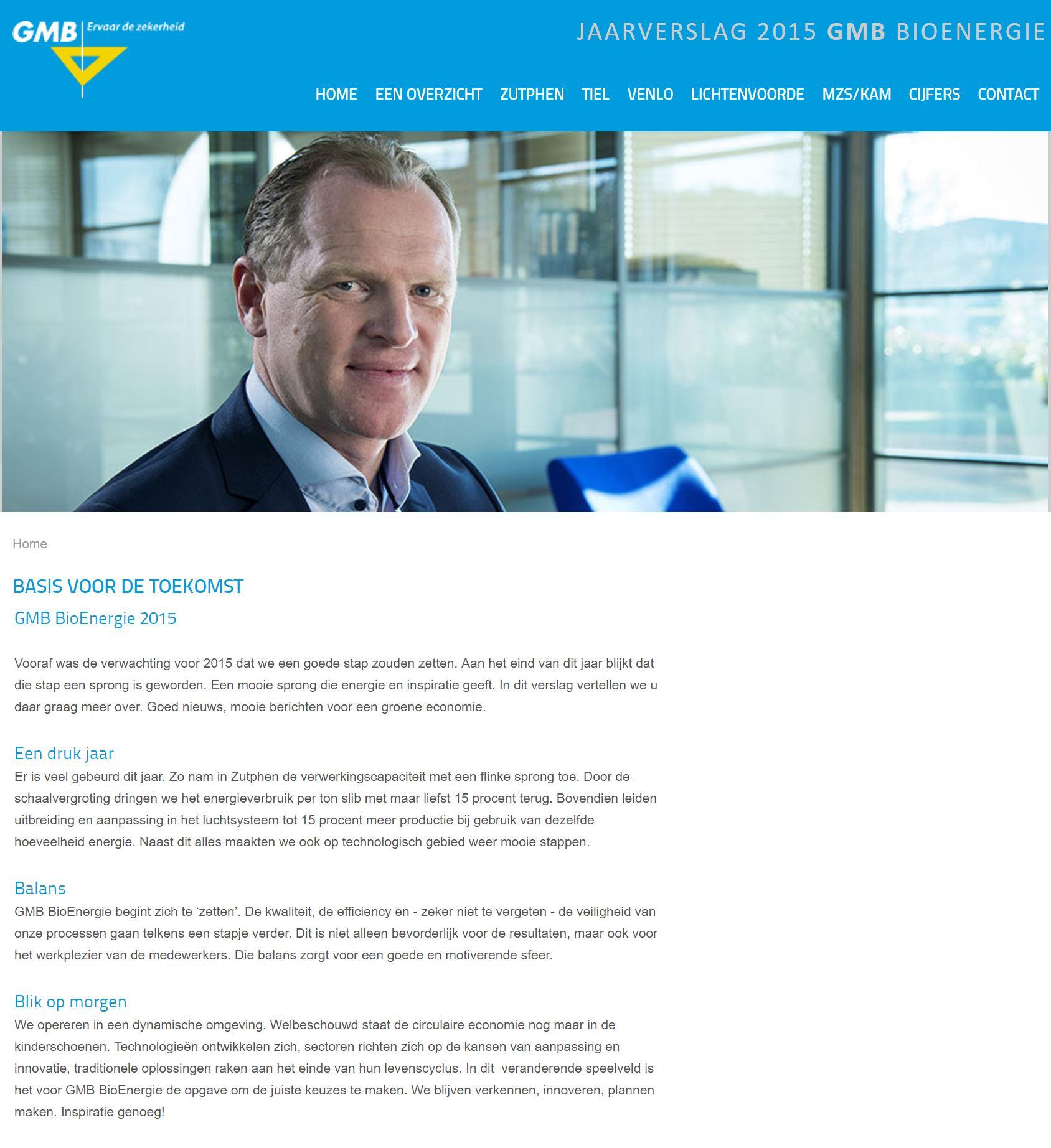 Jaarverslag BioEnergie 2015