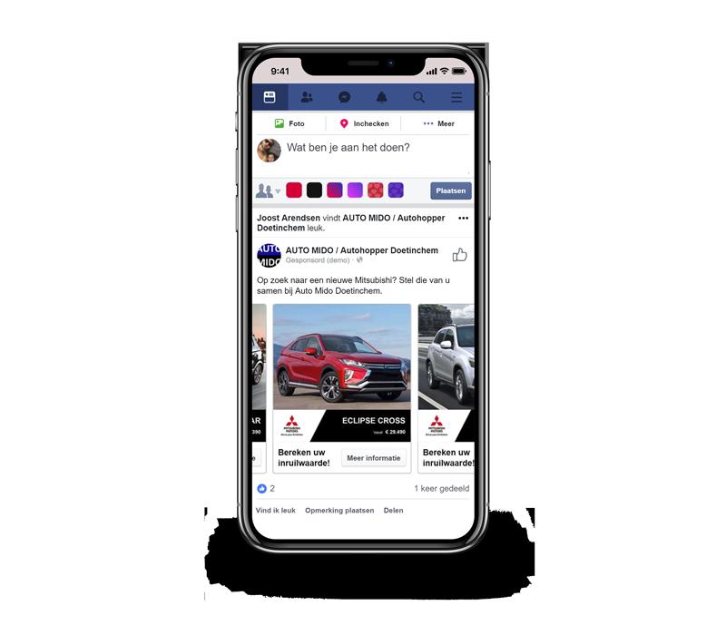 Facebook campagne mobiel