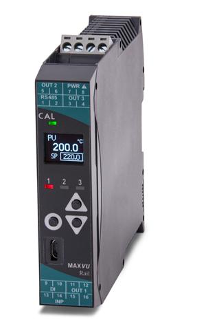 MAXVU DIN-rail regelaar en transmitter