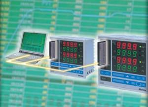 LCD 2-kanaalsregelaar met logfunctie