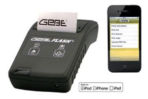 Flash portable printer met IOS
