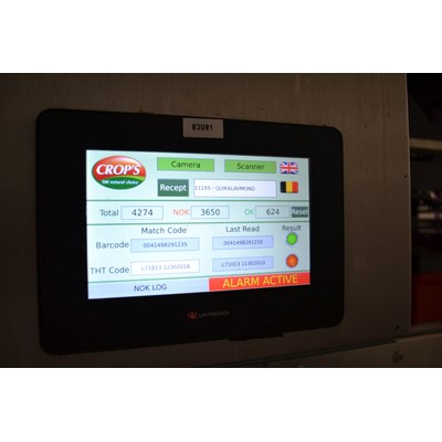 Afbeelding 2 - Cognex controleert productiecodes en houdbaarheidsdatum op VVVS-machine