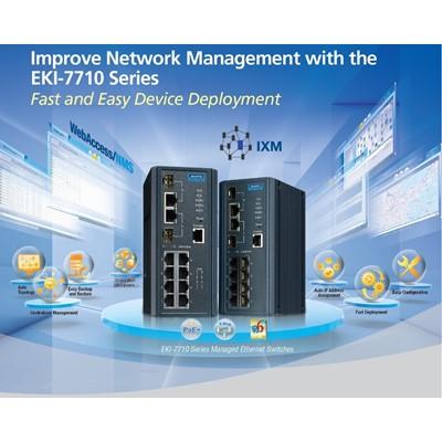 Afbeelding 1 - Managed switch met IXM; snelle en foutloze uitrol van netwerken