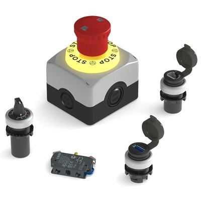 Afbeelding 1 - USB- en RJ45 sockets nu geïntegreerd in designprogramma drukknoppen
