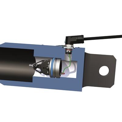 Afbeelding 1 - Wereldprimeur: Slagmeting in hydraulische cilinders