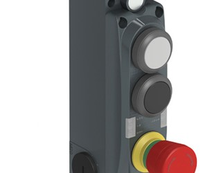 Interlock veiligheidsschakelaar met geïntegreerde drukknoppen en signaleringen.