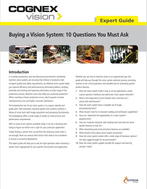10 questions to ask when buying a vision system