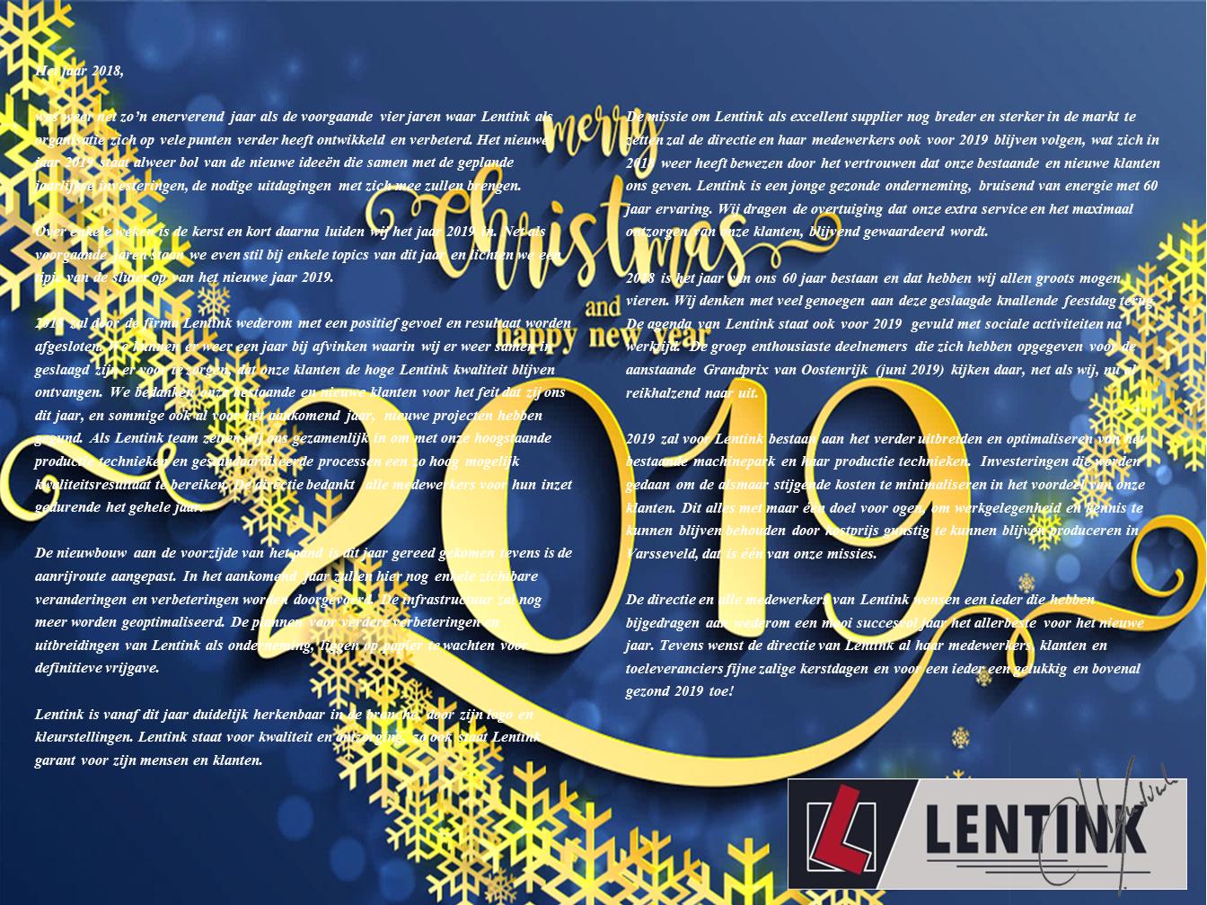 Kerst Nieuwjaars Bericht 2019