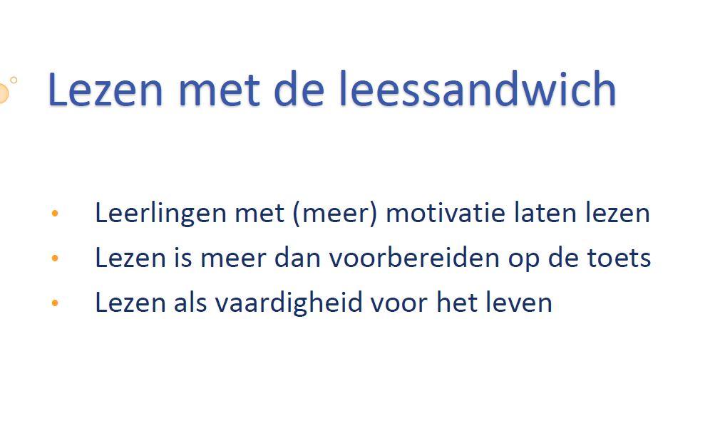 Keynote Bert de Vos - Lezen met de leessandwich