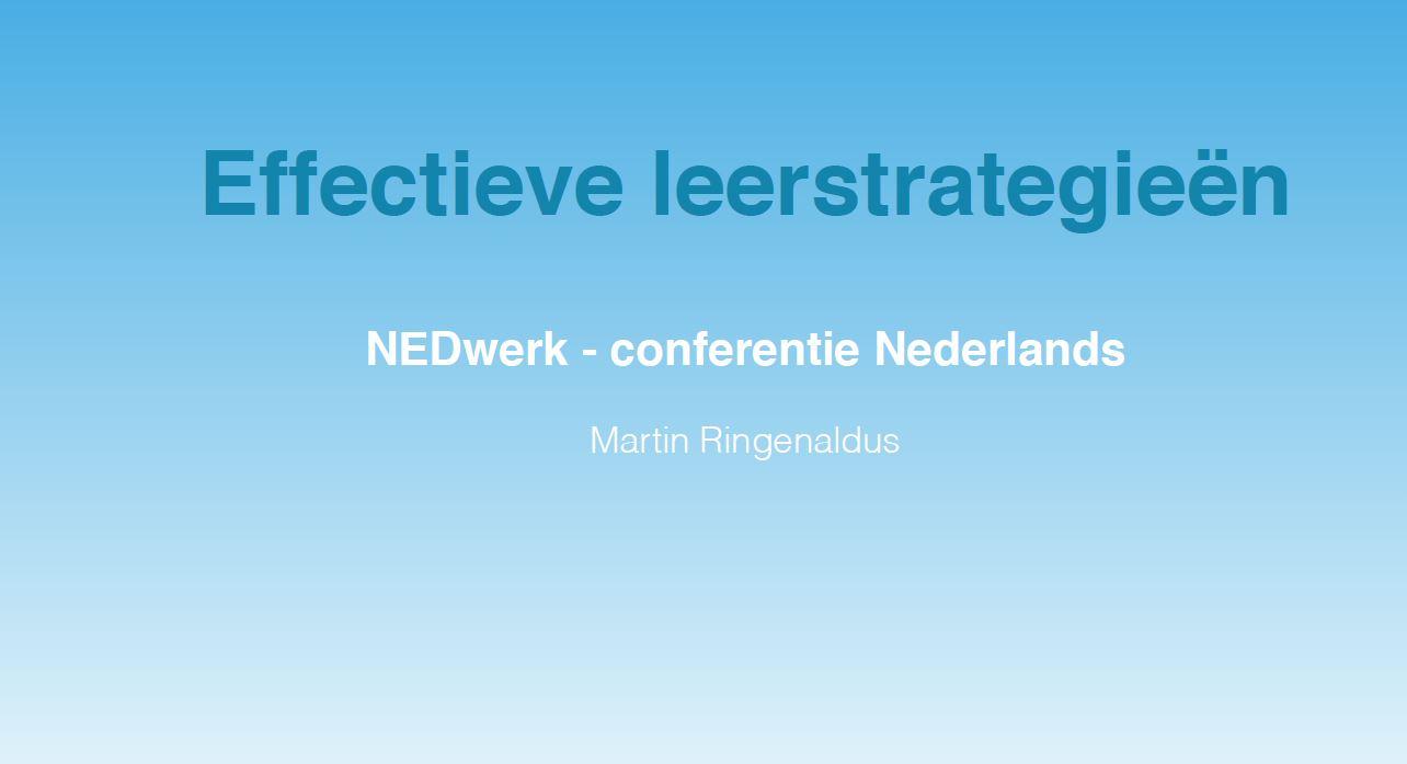 Effectieve leerstrategieën - Martin Ringenaldus