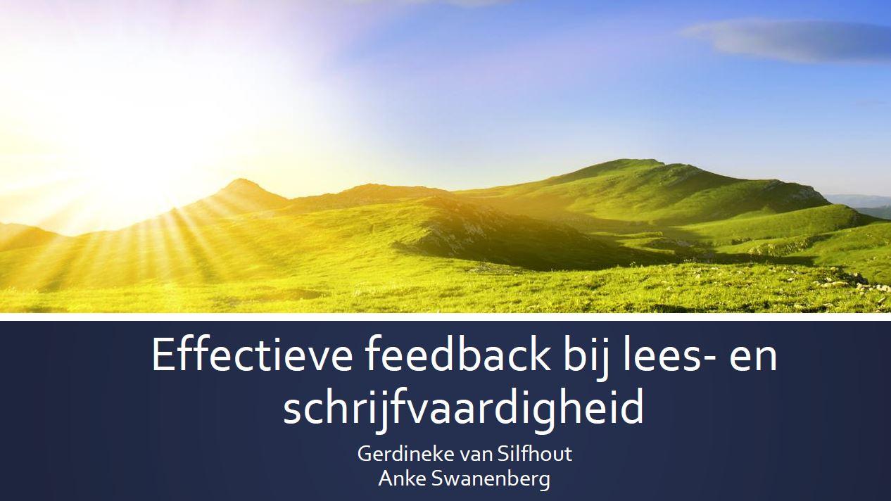 Effectieve feedback bij lees- en schrijfonderwijs - Gerdineke van Silfhout en Anke Swanenberg