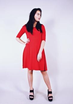 Rimini Basic dress 3/4 sleeves 95 cm