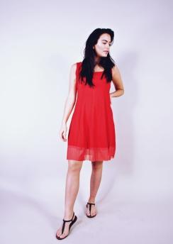 Rimini Basic dress ns 95 cm with mesh hem