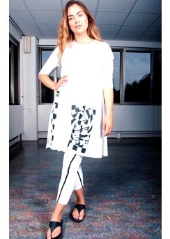 Rimini big shirt or dress with print