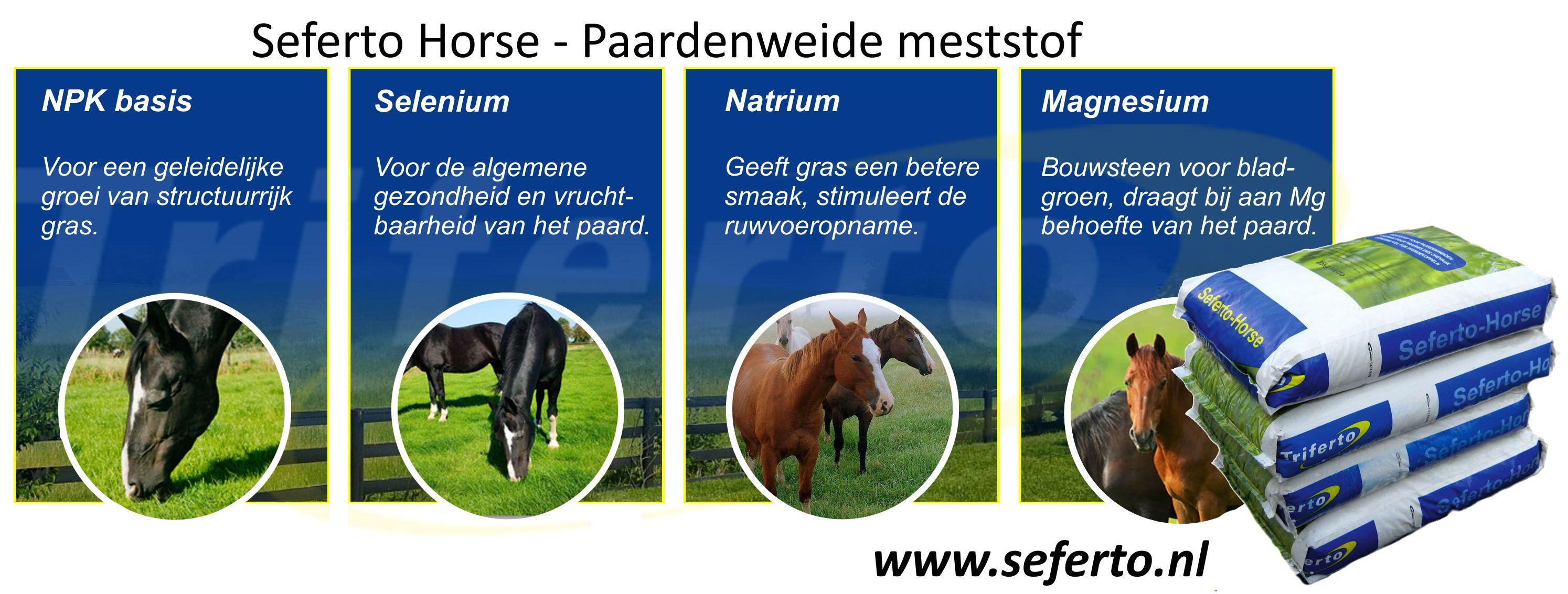Seferto Horse - Selenium meststof voor paardenweide