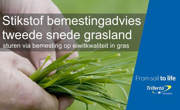 Stikstof bemestingsadvies tweede snede grasland